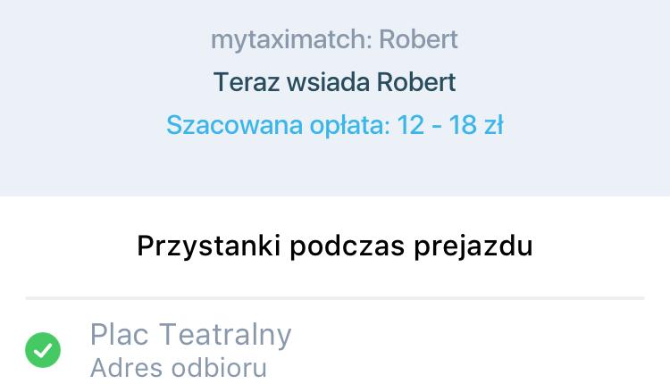3. Informacja o współpasażerze mytaxi match (1)