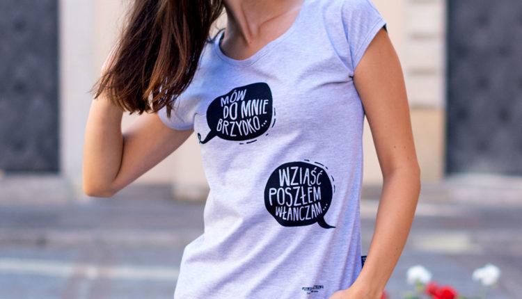 9 Mów do mnie brzydko koszulka damska nadwyraz.com