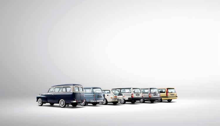 Historical line-up of Volvo estate models