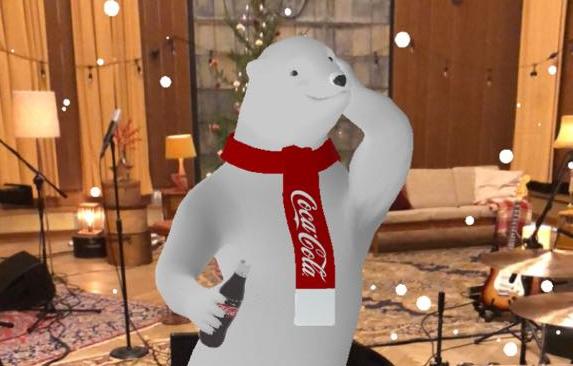 niedźwiedź coca cola AR