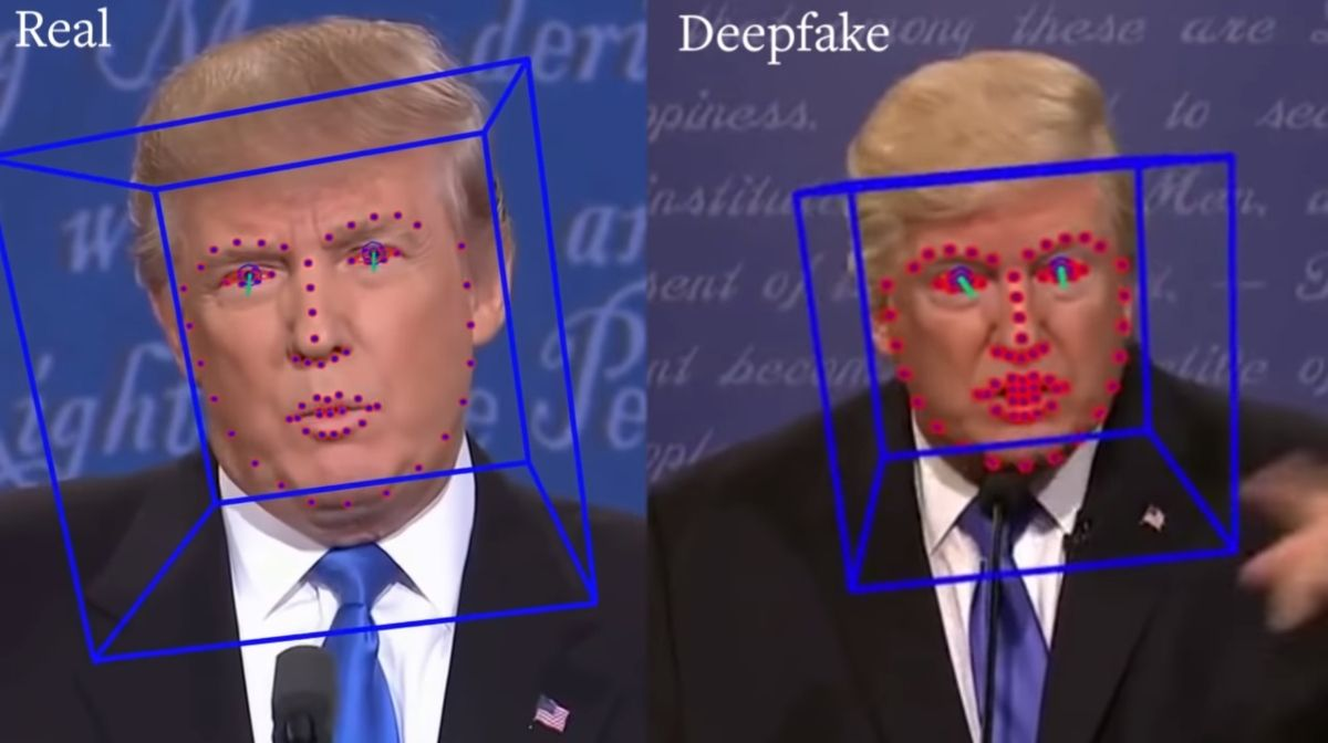 deepfake vs real video