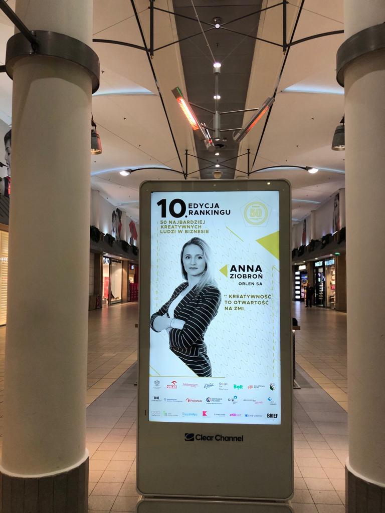 Anna Ziobroń kampania Clear Channel