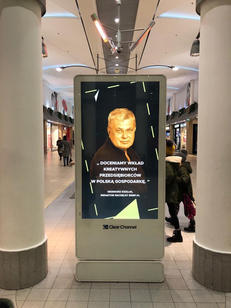 Grzegorz Kiszluk kampania Clear Channel