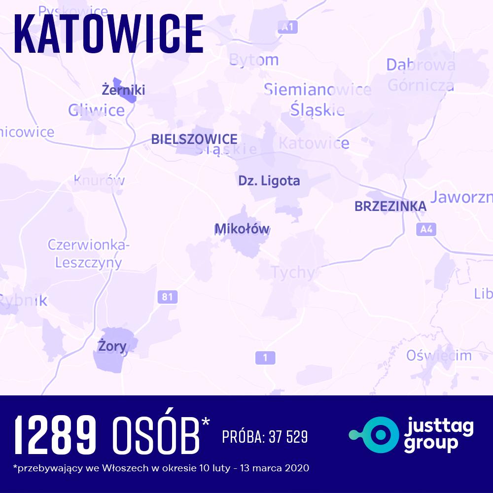 Katowice ogniska COVID-19