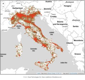mapa Włochy Cloud Technologies 1