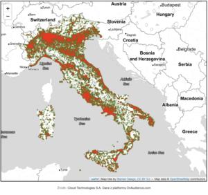 mapa Włochy Cloud Technologies 2
