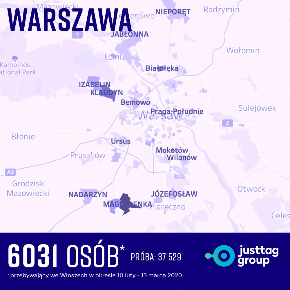 Warszawa ogniska COVID-19