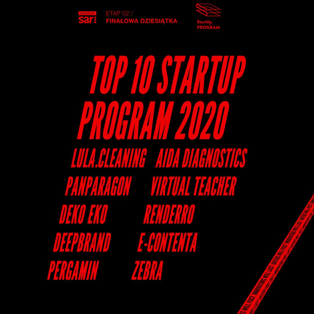TOP 10 Startup Program 2020