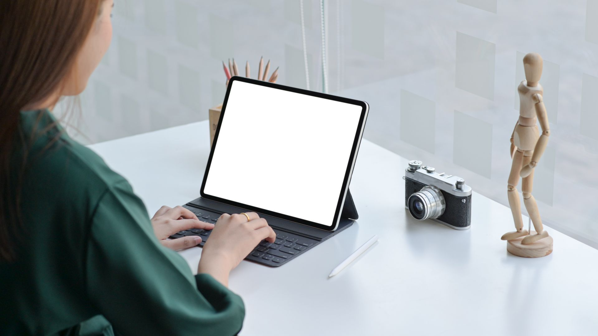 laptop i fotograf