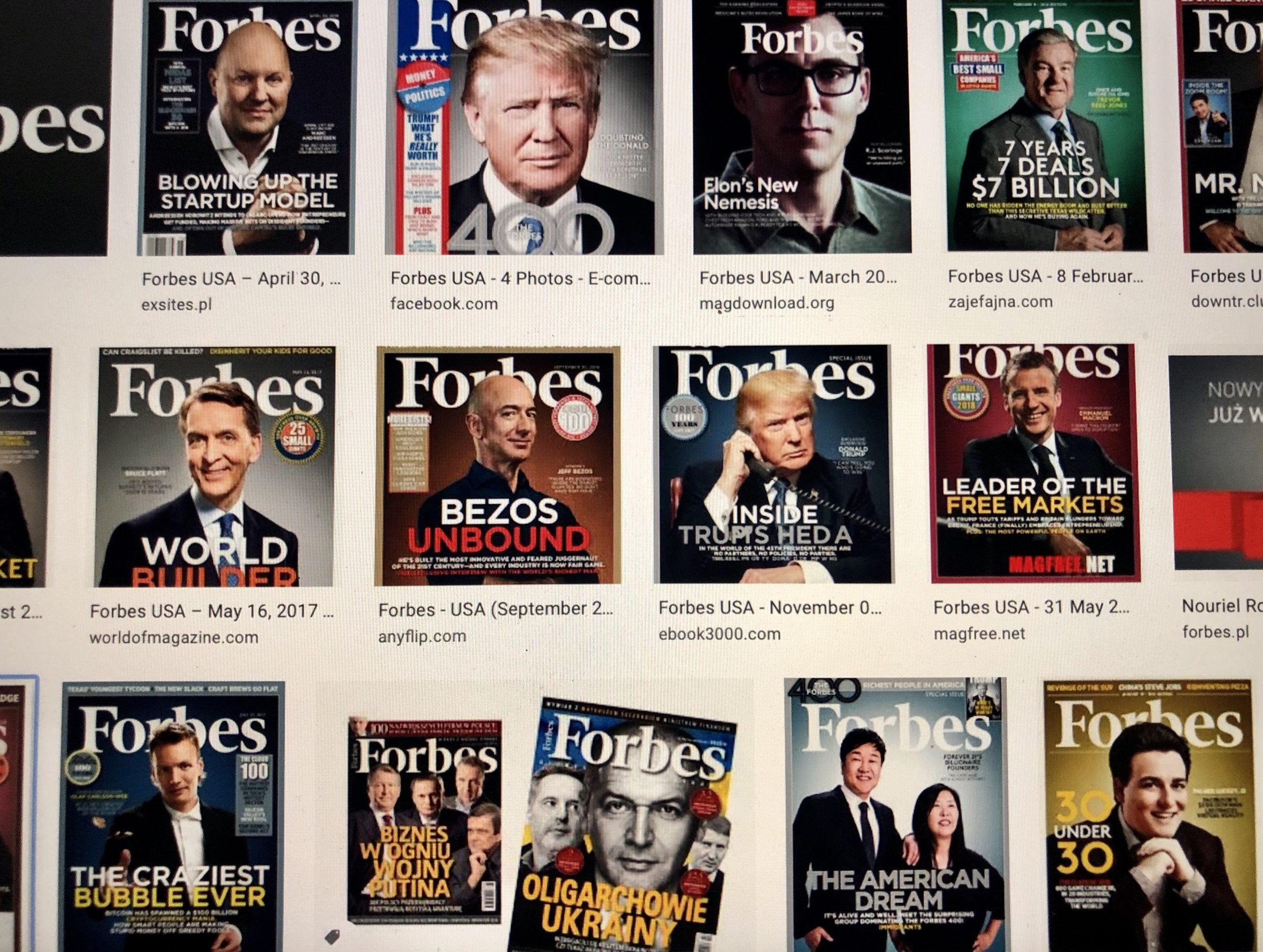 Forbes okładki