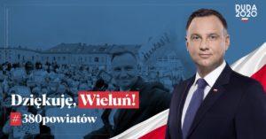 Dziękuje Wieluń 380 powiatów kampania POD