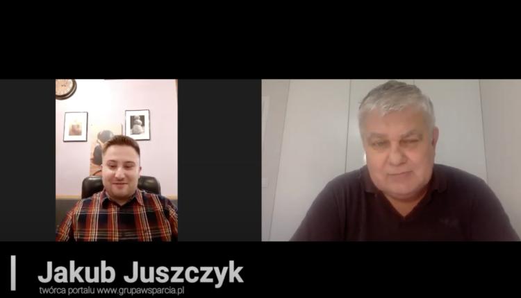 Jakub Juszczyk kiszluk rozmawia