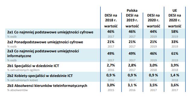 raport DESI 2020